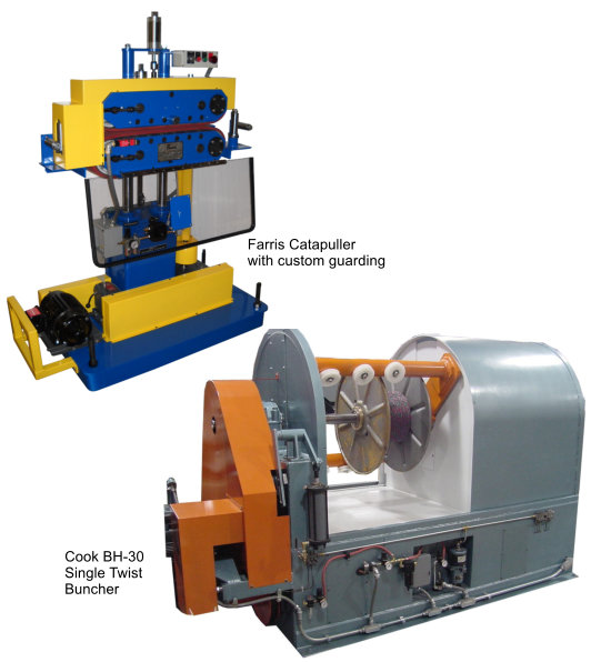 Farris Catapuller machine and Cook buncher machine